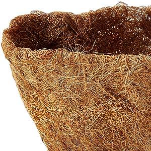 Compost Mat Patio Planter Decoration Winter Protection Mat Plant Protection Mat Ecological Flowerpot Basket Insulation Liner Roll Hanging Basket Pad Garden Coconut Mat