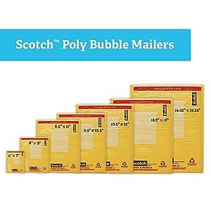 amazon com scotch bubble mailer 6 x 9 inches size 0 25 pack