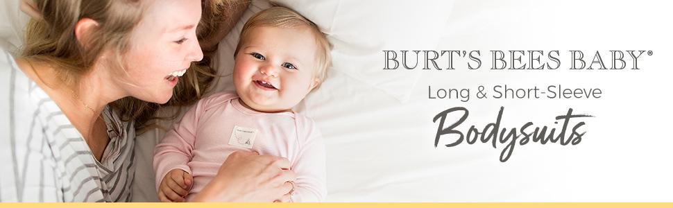 Burt's Bees Baby Bodysuits Organic Cotton One Piece 2 Piece Onesie Newborn Girl Boys Unisex 3M 6 Mon