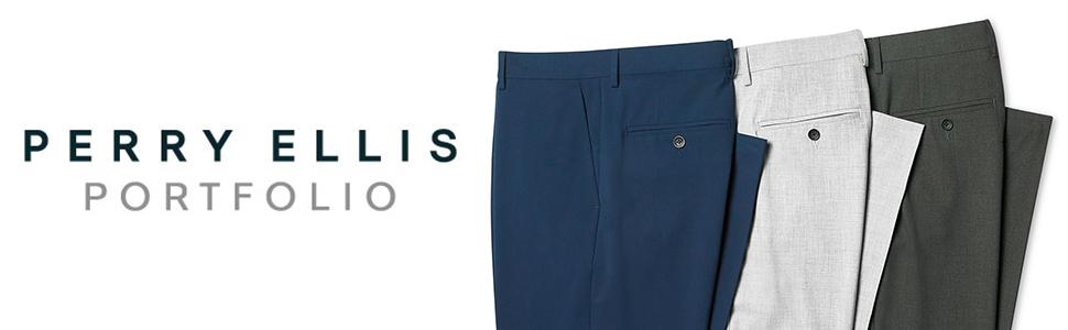 perry ellis, perry ellis portfolio, pants, dress pants, mens pants