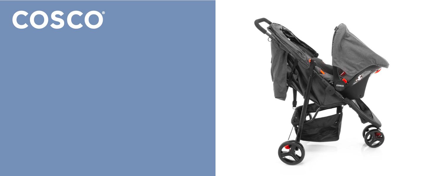 carrinho, carro, bebê, conforto, passeio, conjunto, segurança, Travel, System, Jetty, Duo, Cosco