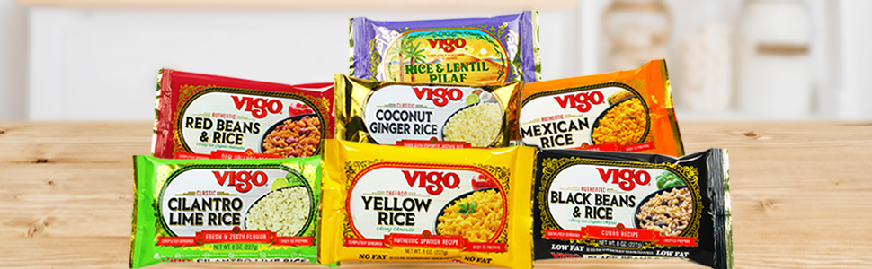 Amazon Com Vigo Saffron Yellow Rice 8 Ounce Pack Of 12 Grocery Gourmet Food