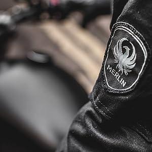 Black Merlin Creswell CE Wax Leather Waterproof Motorcycle Glove