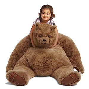 stufffed;stuffed animal;stuffed bear;plush bear;stuffed toy;big bear;giant stuffy;giant stuffed