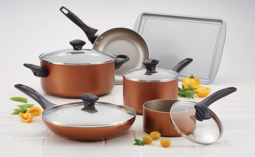 farberware, farberware cookware, pots and pans, cookware, nonstick cookware
