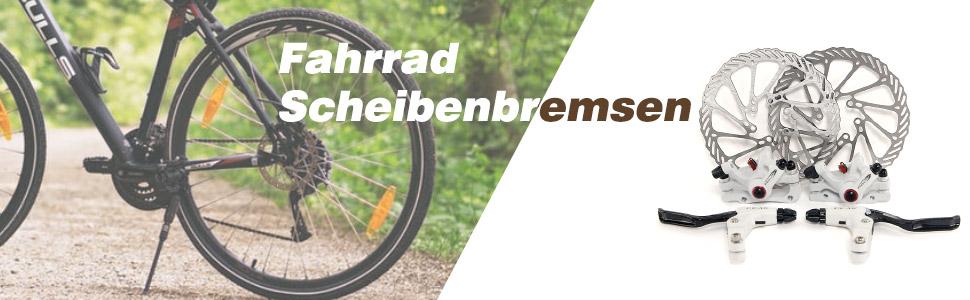Tbest Fahrrad Scheibenbremsen Satz Mechanisch Mountainbike Scheibenbremse Set 1 Paar Hydraulische Bremse Set Aluminiumlegierung MTB Rennrad Radfahren Mechanische Scheibenbremszangen Vorne Hinten