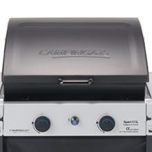 Campingaz Xpert 100 L Barbacoa gas, parrilla gas con dos quemadores compactos, 7.1 kW de potencia, parrilla de rejilla, 2 mesitas auxiliares y carro ...