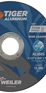 Weiler 58200 Tiger Cut Off Wheel for Aluminum