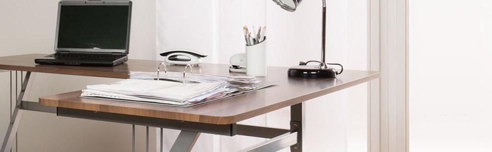 Hjh OFFICE 673801 Cajonera con ruedas EKON plateado para escritorio