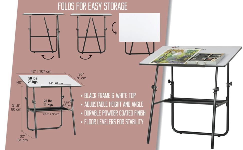 drafting table, drafting table set, drawing table, folding drafting table