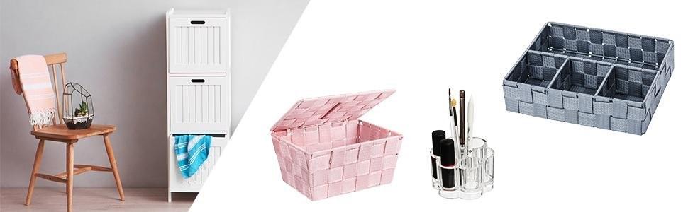 mini cestino da bagno con coperchio in PP talpa 18/x 10/x 6,5 cm Wenko 22572100 Adria