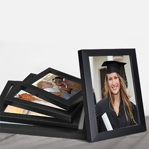photo frames for living room, black photo frame mixed sizes