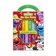my,first,library,book,block,early,learning,year,old,olds,baby,babies,1,2,sesame,street,elmo,farm