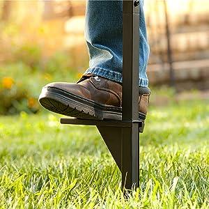 garden hose stand yard storage