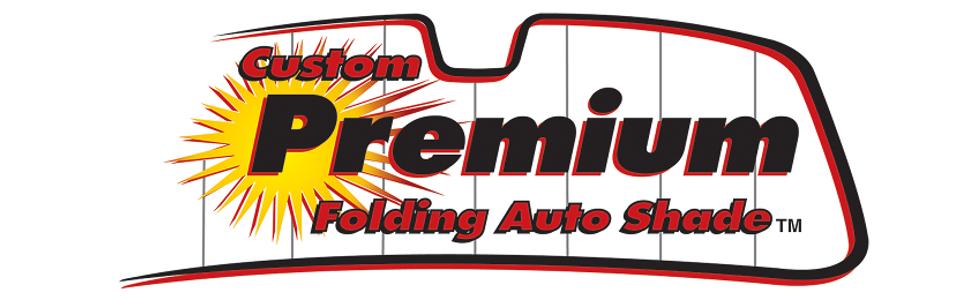 Intro-Tech Custom Premium Folding Auto Shade, Silver Banner Image Logo