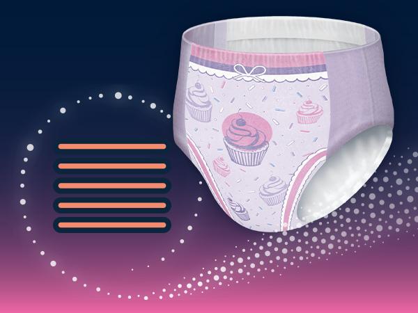 GOODNITES Underwear for Girls Large