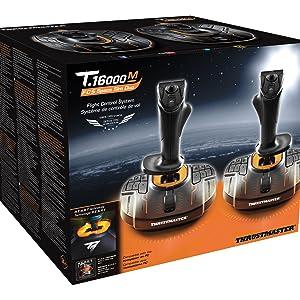 joystick, thrustmaster, realidad virtual, simulacion de vuelo, t16000
