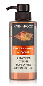 manuka honey, apricot, moisturized hair, moisturizing