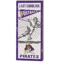 East Carolina Pirates Vintage Player Sign