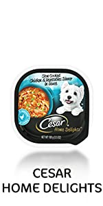 cesar home delights wet dog food slow cooked chicken and vegetables in sauce, soft dog food, westie
