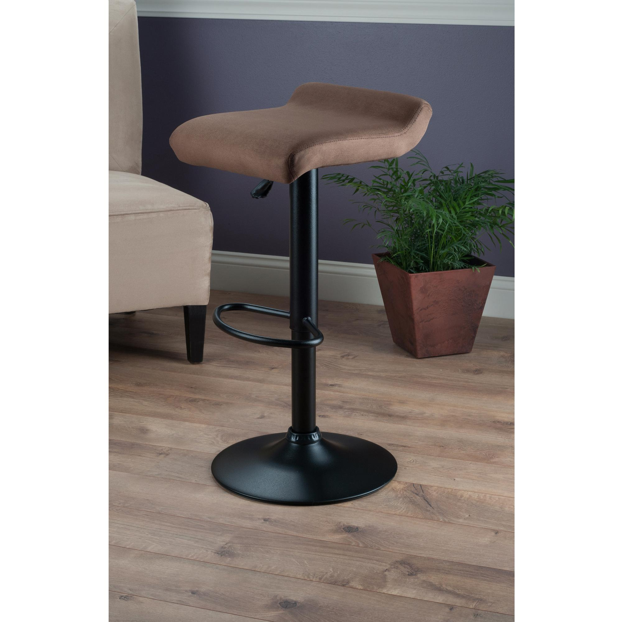 Winsome Wood Marni Air Lift Stool Micro Fiber Seat Top