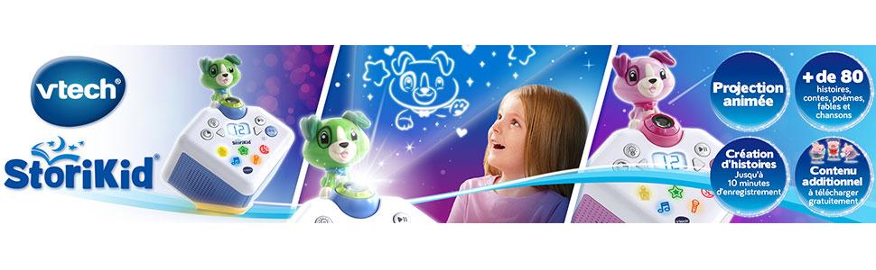 bo/îte /à histoires enfant avec projection Mon conteur d/'histoires rose StoriKid VTech