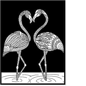 Malbuch Für Erwachsene Vogelparadies A4 Nacht Edition 40