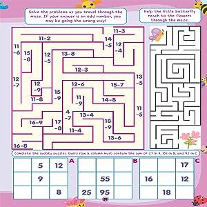 maze activities, sudoku puzzle, 505 activities