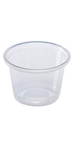 Karat 1 oz Clear PP Tall Portion Cup