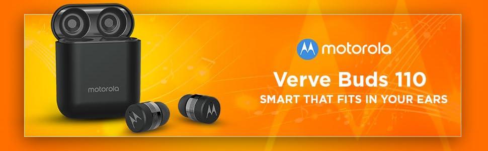 Verve Buds 110 Motorola Earbuds wireless Alexa Bluetooth