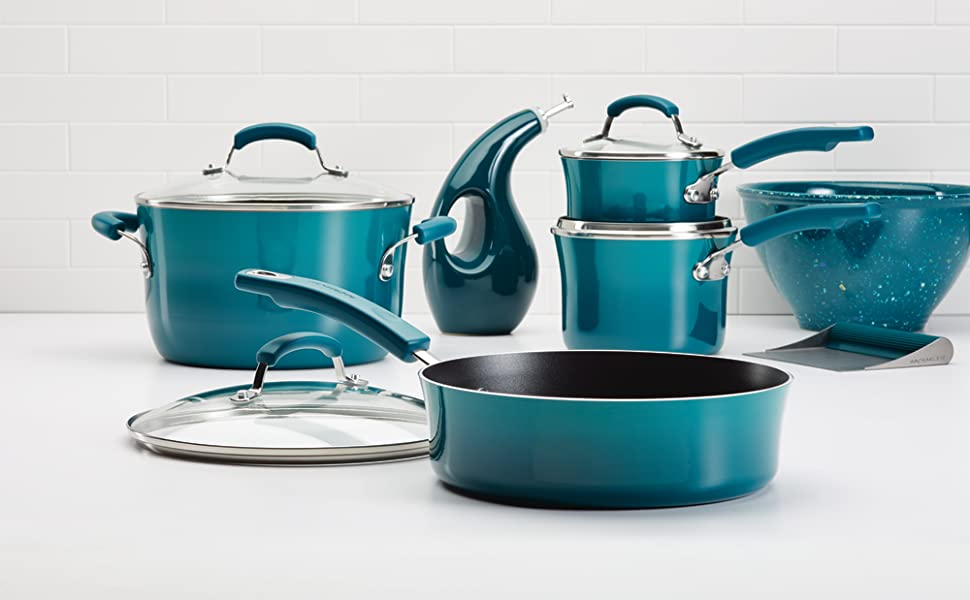 rachael ray, pots and pans, rachael ray cookware, nonstick cookware
