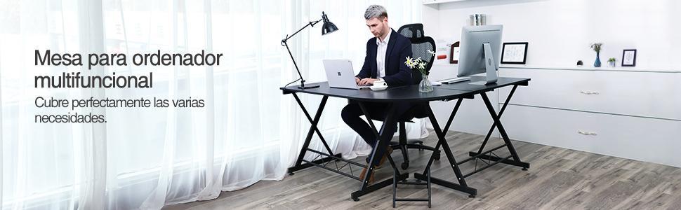 Songmics Escritorio de la Computadora con Portateclado Mesa de ...