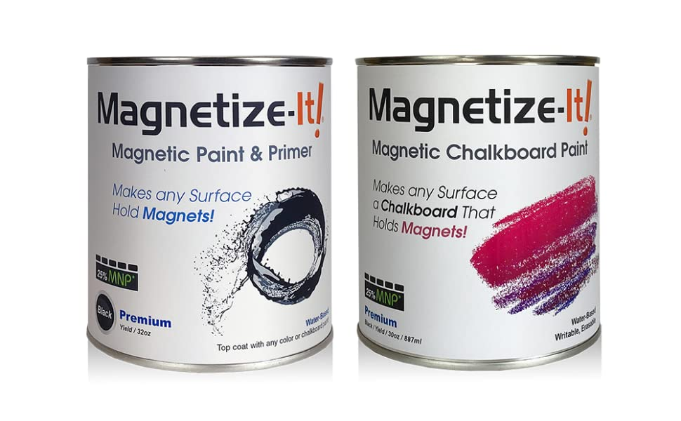 Magnetize-It! Magnetic Paint and Primer and Chalkboard Paint