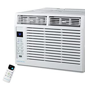 Emerson Quiet Kool EARC5RD1 5000 BTU 115V White Window Air Conditioner with Remote Control