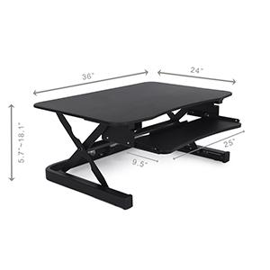 electric desk converter riser dimensions
