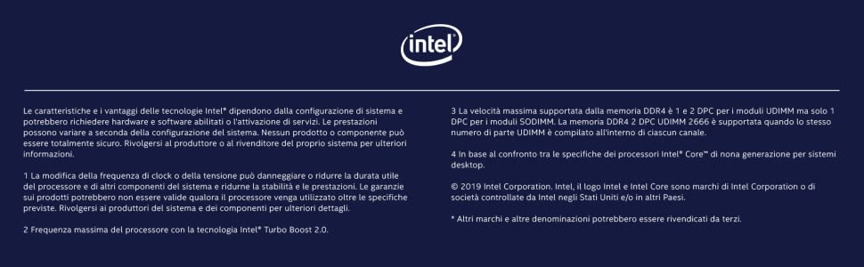 Processore Intel Core i7-9700KF 9th Gen Sbloccato