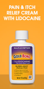 Over-the-counter lidocaine pain relief spray.