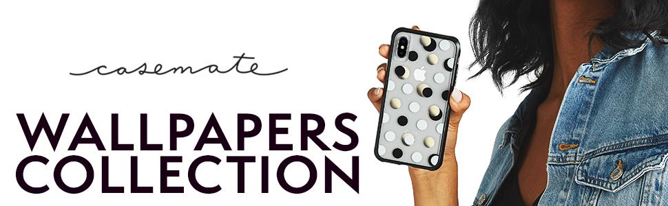 Amazon Com Case Mate Iphone Xs Max Case Wallpapers Iphone 6 5 Black Metallic Dot Model Cm038139