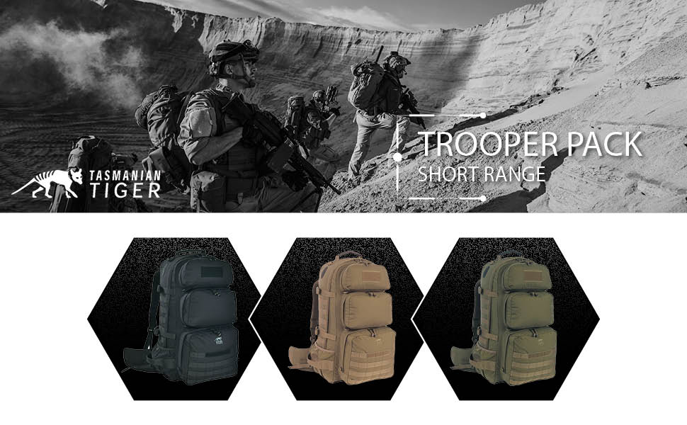 Amazon.com : TT Trooper Pack (Black) : Tactical Backpacks : Sports ...