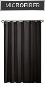 shower liner, fabric shower liner, microfiber shower liner, waterproof shower liner