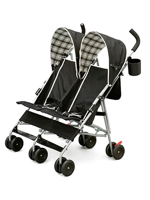 delta children side by side stroller kids twins toddler babies lightweight umbrella fold