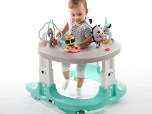 4-in-1 mobile activity center development 6 toys 28 activities multiple modes 360 rotating seat