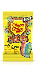 Chupa Chups Lollipop Lolly Sweet Treat Candy Fruit Sour Flavour Party Share Bag