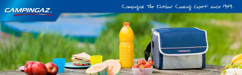 Campingaz Kühltasche Fold N Cool Nevera Flexible, 10 l, Unisex, Azul Marino/Gris