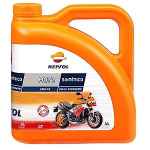 Repsol RRP163N54 Moto Sintetico 4T 10W-40 Aceite de Motor, 4 L