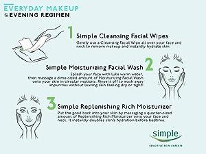Everyday Makeup Evening Regimen