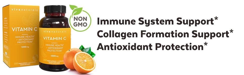 vitamin c immunity support 1000 mg immune health antioxidant flu season collagen formation