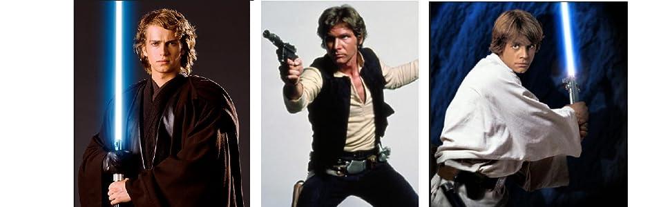 Anakin Skywalker, Han solo, Luke Skywalker