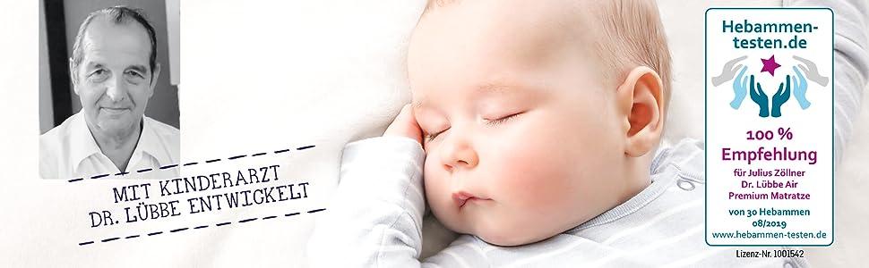 med barnläkare Dr. Carsten Lübbe utvecklad och rekommenderas av barnmorskor