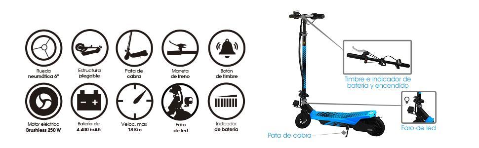 SMARTGYRO Viper Patín Scooter eléctrico, Unisex niños